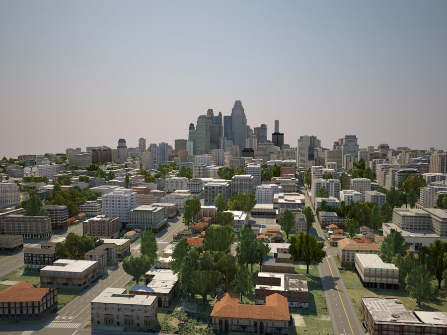 Huge City royalty-free 3d model - Preview no. 5
