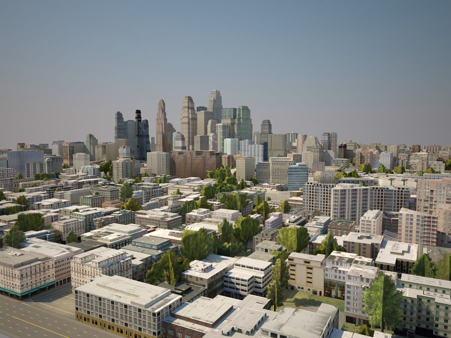 Huge City royalty-free 3d model - Preview no. 6