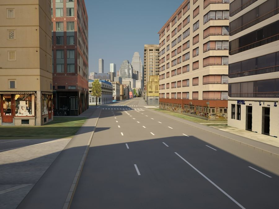 Huge City royalty-free 3d model - Preview no. 11