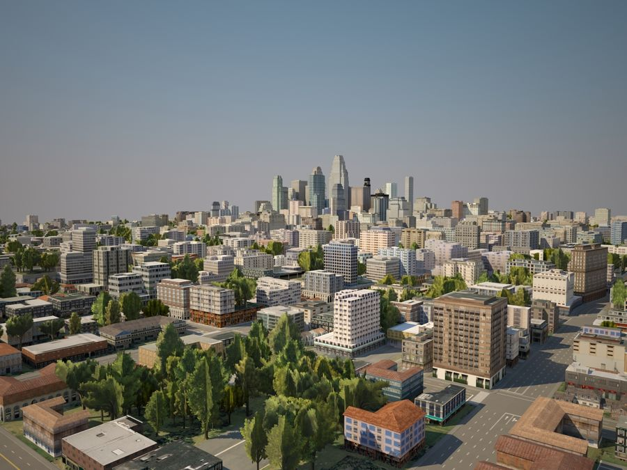 Huge City royalty-free 3d model - Preview no. 4