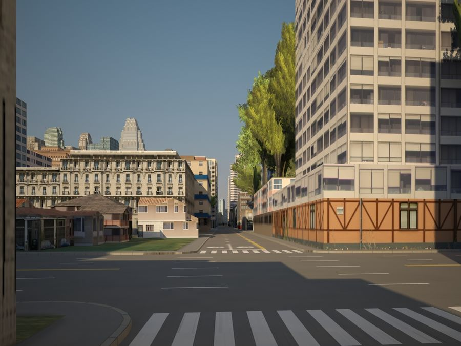 Huge City royalty-free 3d model - Preview no. 13