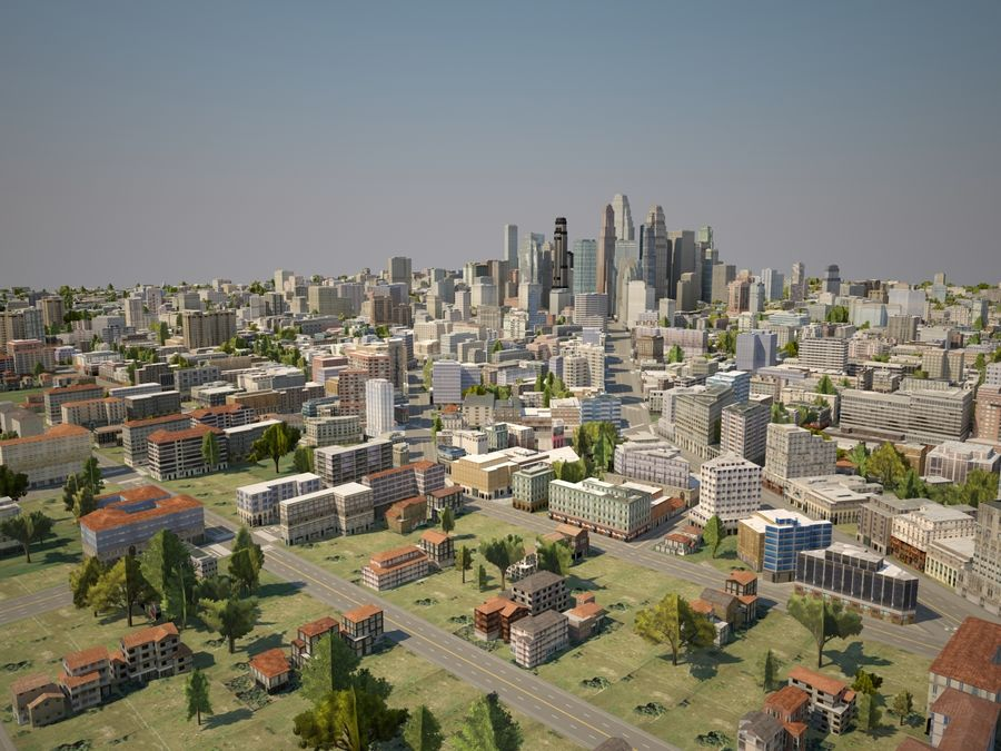 Huge City royalty-free 3d model - Preview no. 8