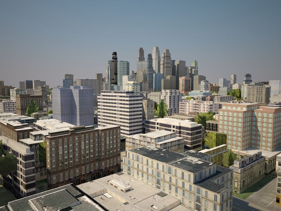 Huge City royalty-free 3d model - Preview no. 7