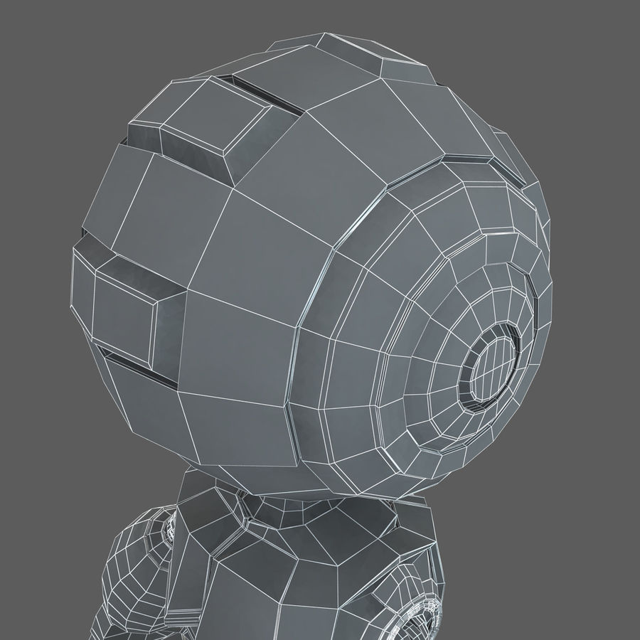 Robot Humanoide character royalty-free 3d model - Preview no. 19