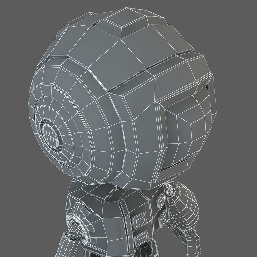 Robot Humanoide character royalty-free 3d model - Preview no. 18