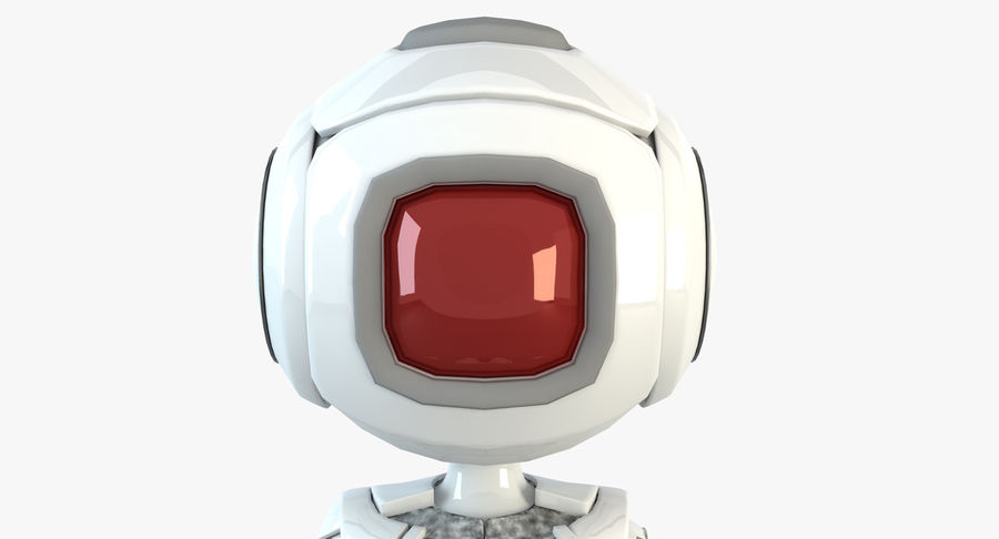 Robot Humanoide character royalty-free 3d model - Preview no. 2