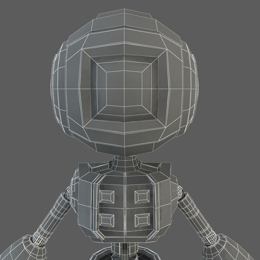 Robot Humanoide character royalty-free 3d model - Preview no. 17
