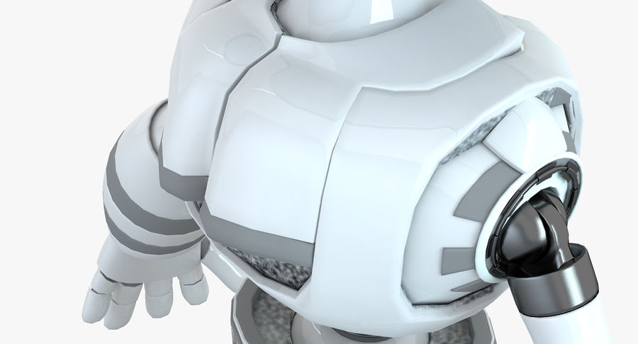 Robot Humanoide character royalty-free 3d model - Preview no. 7