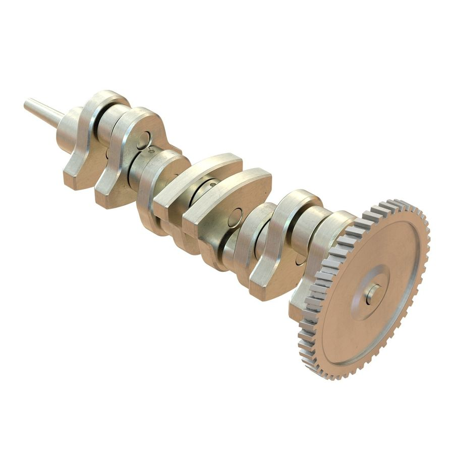 Crankshaft royalty-free 3d model - Preview no. 5