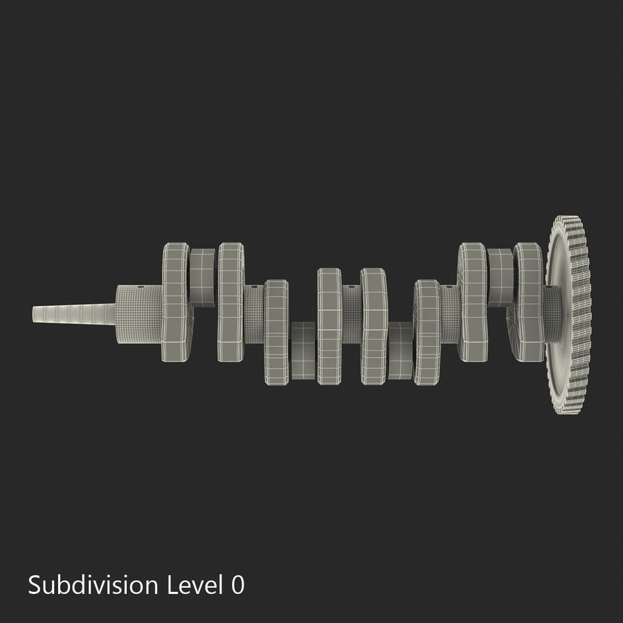 Crankshaft royalty-free 3d model - Preview no. 13