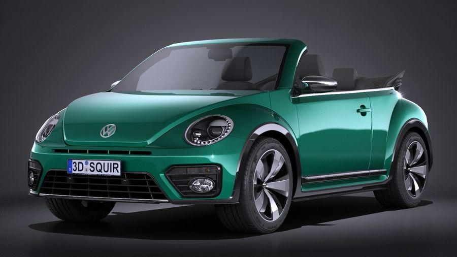 volkswagen beetle cabrio 2017 3d model 149 c4d max. Black Bedroom Furniture Sets. Home Design Ideas