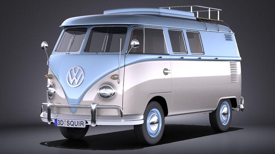 Volkswagen Camper Van >> Volkswagen Transporter T1 Camper Van 1950 3D Model $149 - .obj .max .lwo .fbx .c4d .3ds - Free3D