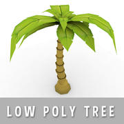 Cartoon Palm Tree (Low Poly) 3d model