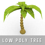 Comic Palme (Niedriges Poly) 3d model