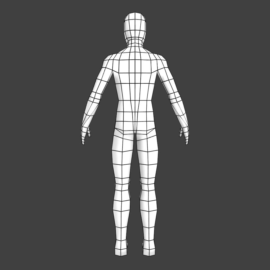Generic Low-poly Basemesh Female royalty-free 3d model - Preview no. 3