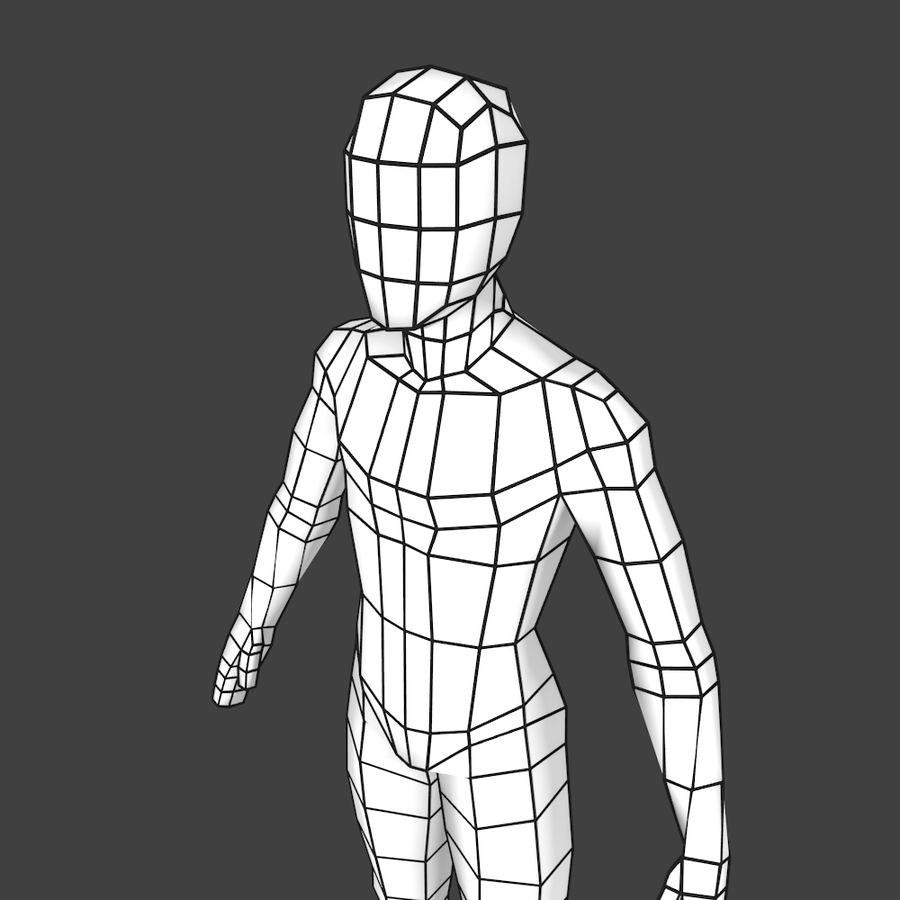 Generic Low-poly Basemesh Female royalty-free 3d model - Preview no. 5
