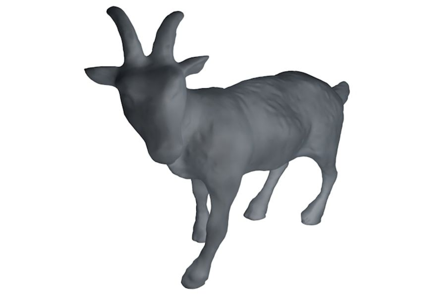 Detailed Goat Base Mesh royalty-free 3d model - Preview no. 2