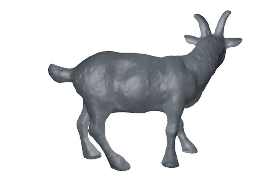 Detailed Goat Base Mesh royalty-free 3d model - Preview no. 5
