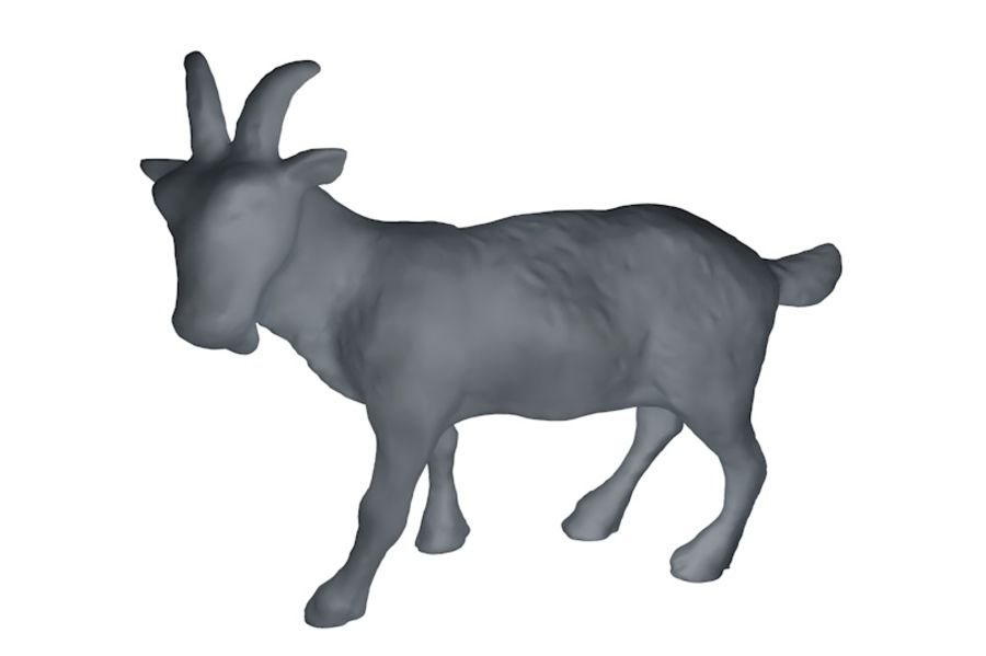 Detailed Goat Base Mesh royalty-free 3d model - Preview no. 1