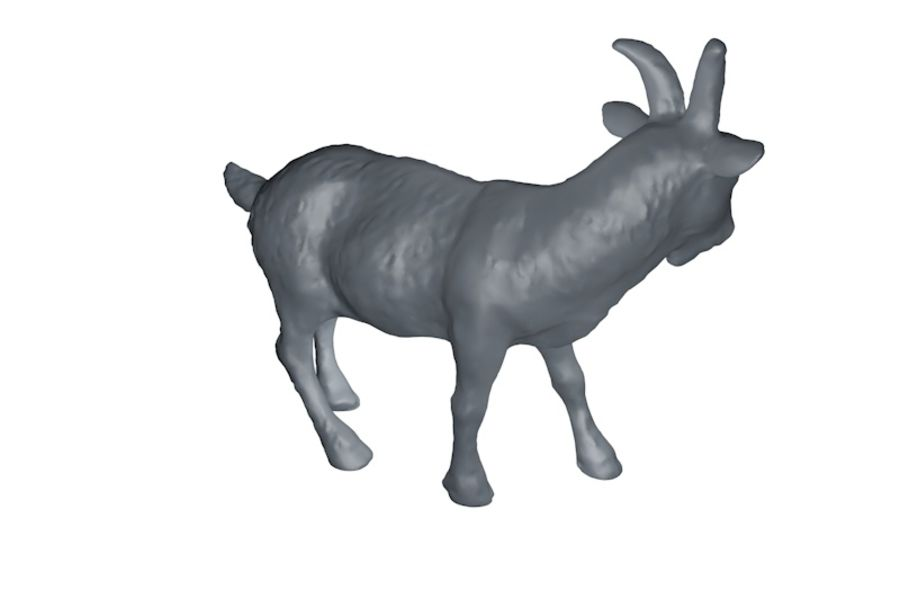 Detailed Goat Base Mesh royalty-free 3d model - Preview no. 4