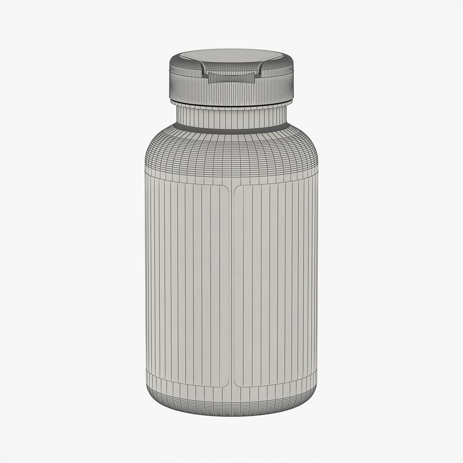 BOTTLE 300cc royalty-free 3d model - Preview no. 6