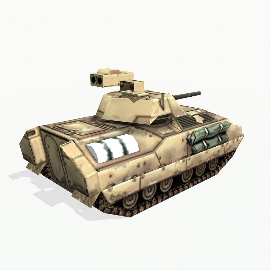 M2 Bradley royalty-free 3d model - Preview no. 5