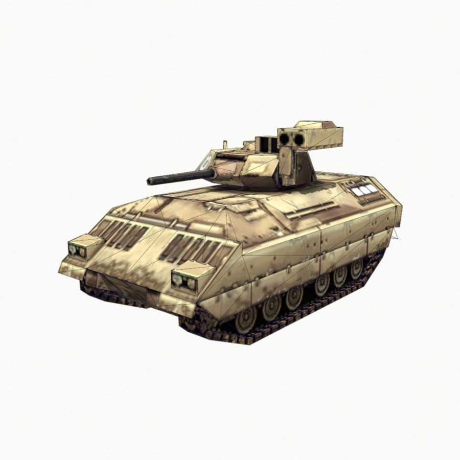 M2 Bradley royalty-free 3d model - Preview no. 9