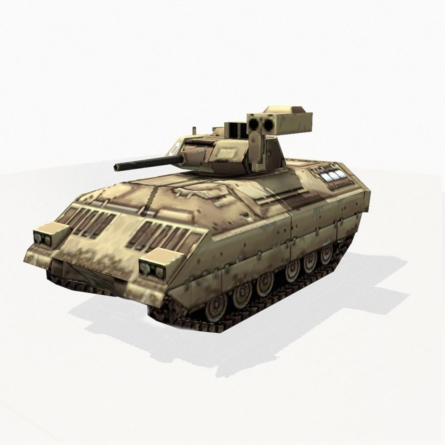 M2 Bradley royalty-free 3d model - Preview no. 2
