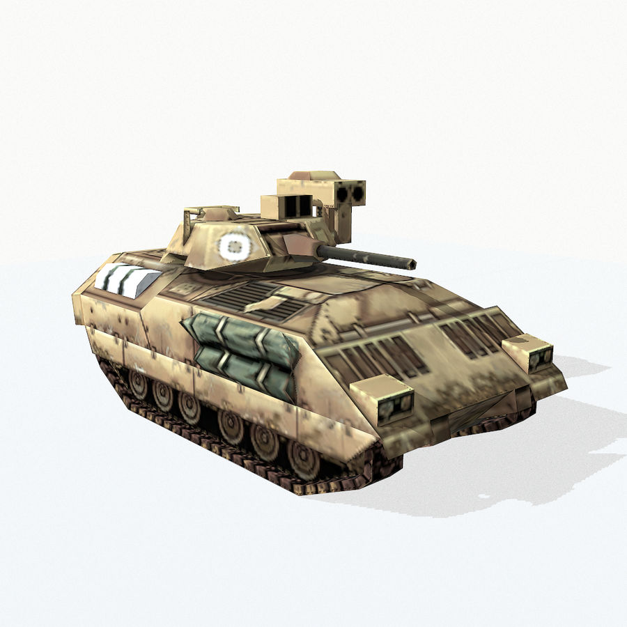 M2 Bradley royalty-free 3d model - Preview no. 7