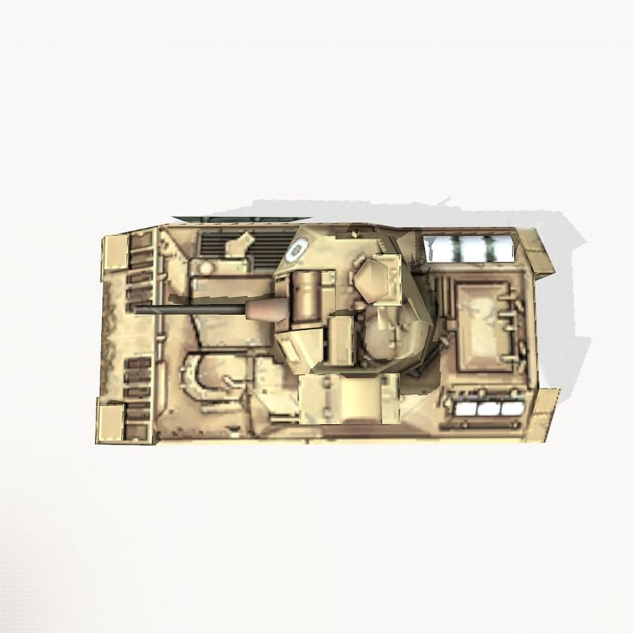 M2 Bradley royalty-free 3d model - Preview no. 8