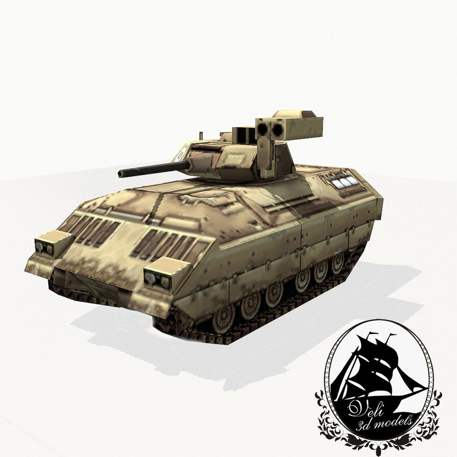 M2 Bradley royalty-free 3d model - Preview no. 1