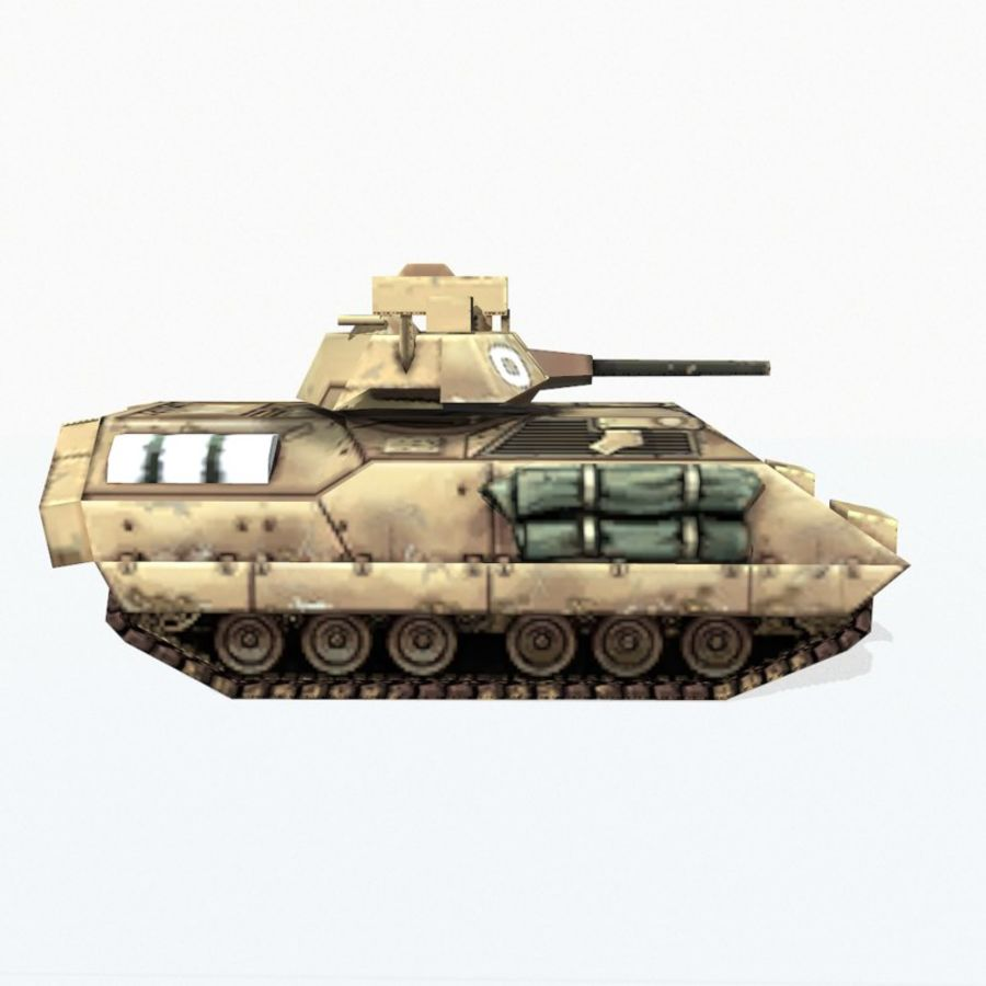 M2 Bradley royalty-free 3d model - Preview no. 6