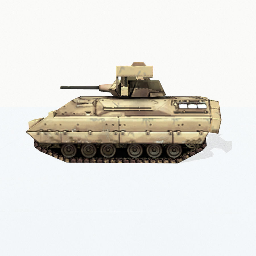 M2 Bradley royalty-free 3d model - Preview no. 3