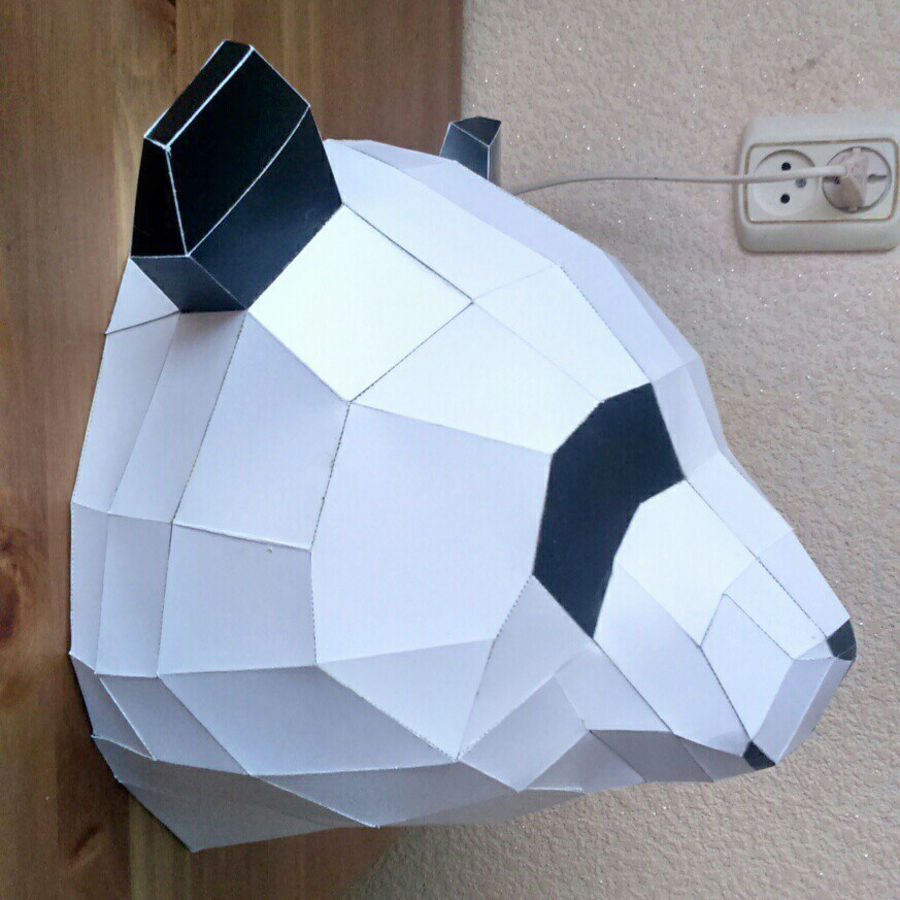 Panda Papercraft royalty-free 3d model - Preview no. 12
