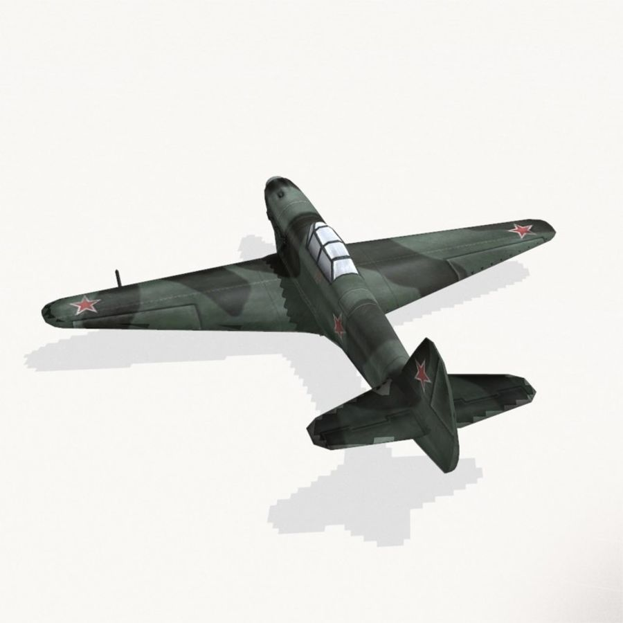 Yak-9 royalty-free 3d model - Preview no. 8