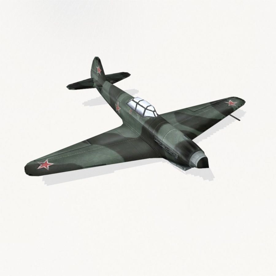 Yak-9 royalty-free 3d model - Preview no. 6