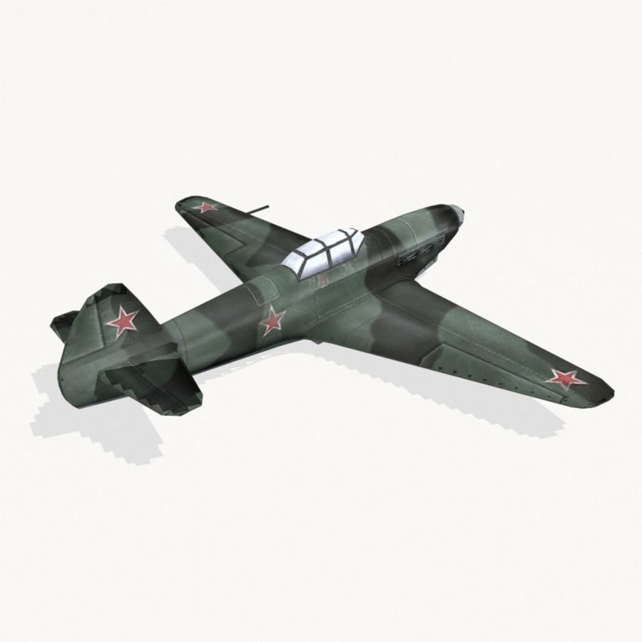 Yak-9 royalty-free 3d model - Preview no. 5