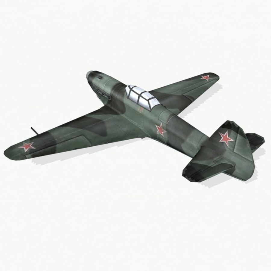 Yak-9 royalty-free 3d model - Preview no. 4