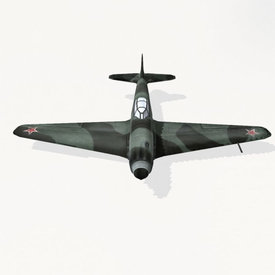 Yak-9 royalty-free 3d model - Preview no. 7