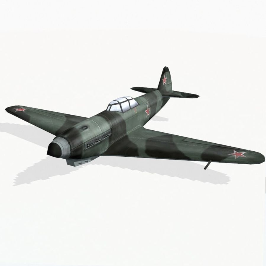Yak-9 royalty-free 3d model - Preview no. 2
