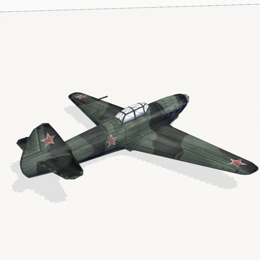 Yak-9 royalty-free 3d model - Preview no. 12