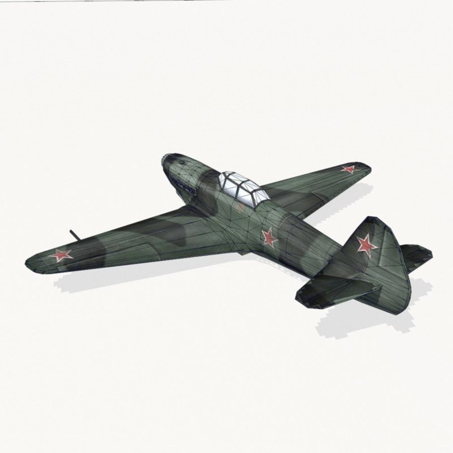 Yak-9 royalty-free 3d model - Preview no. 11