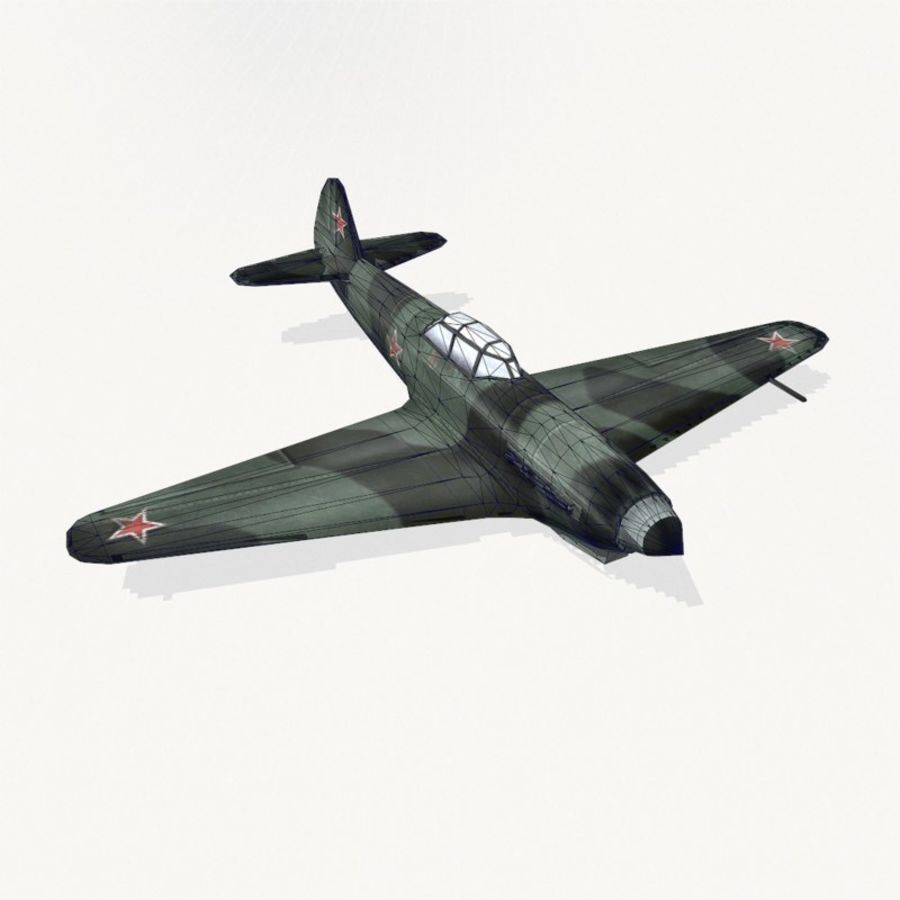 Yak-9 royalty-free 3d model - Preview no. 13