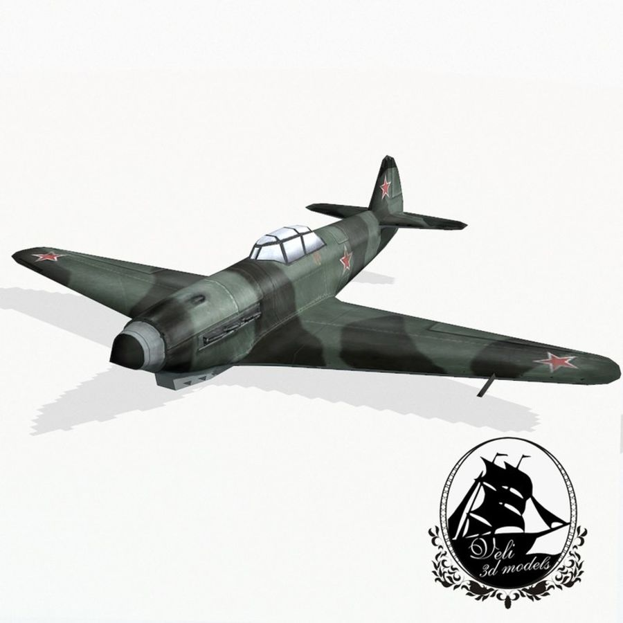 Yak-9 royalty-free 3d model - Preview no. 1