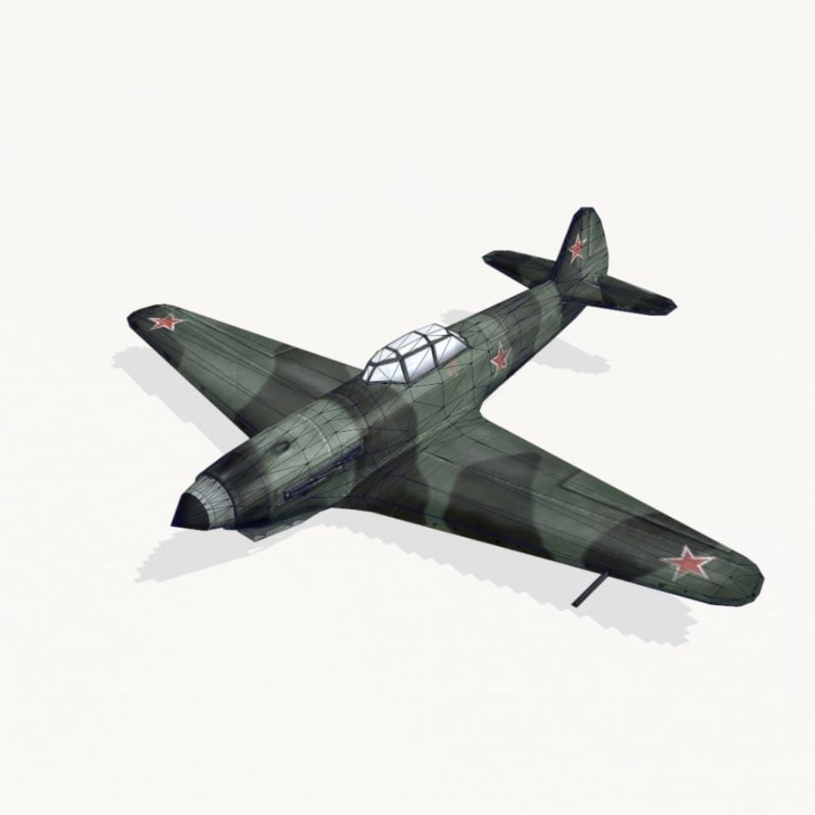Yak-9 royalty-free 3d model - Preview no. 10