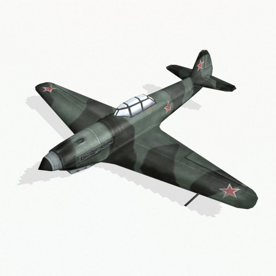 Yak-9 royalty-free 3d model - Preview no. 3