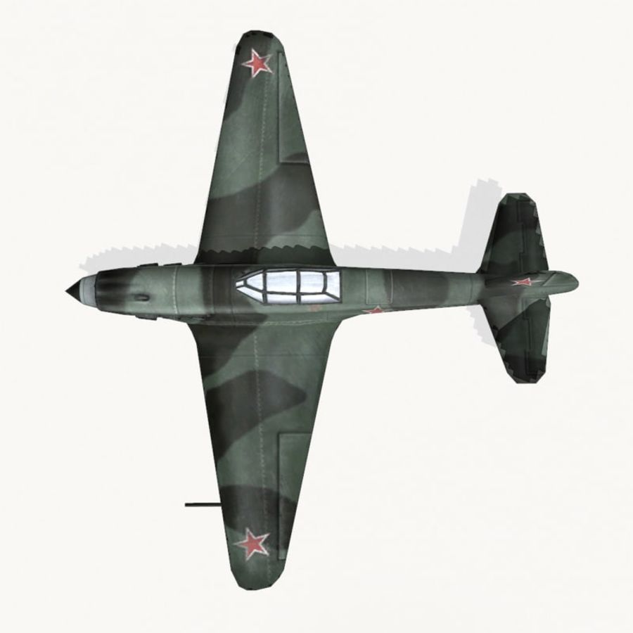 Yak-9 royalty-free 3d model - Preview no. 9