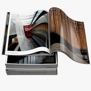 Magazines Open 01 3d model