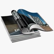 Magazines Open 02 3d model