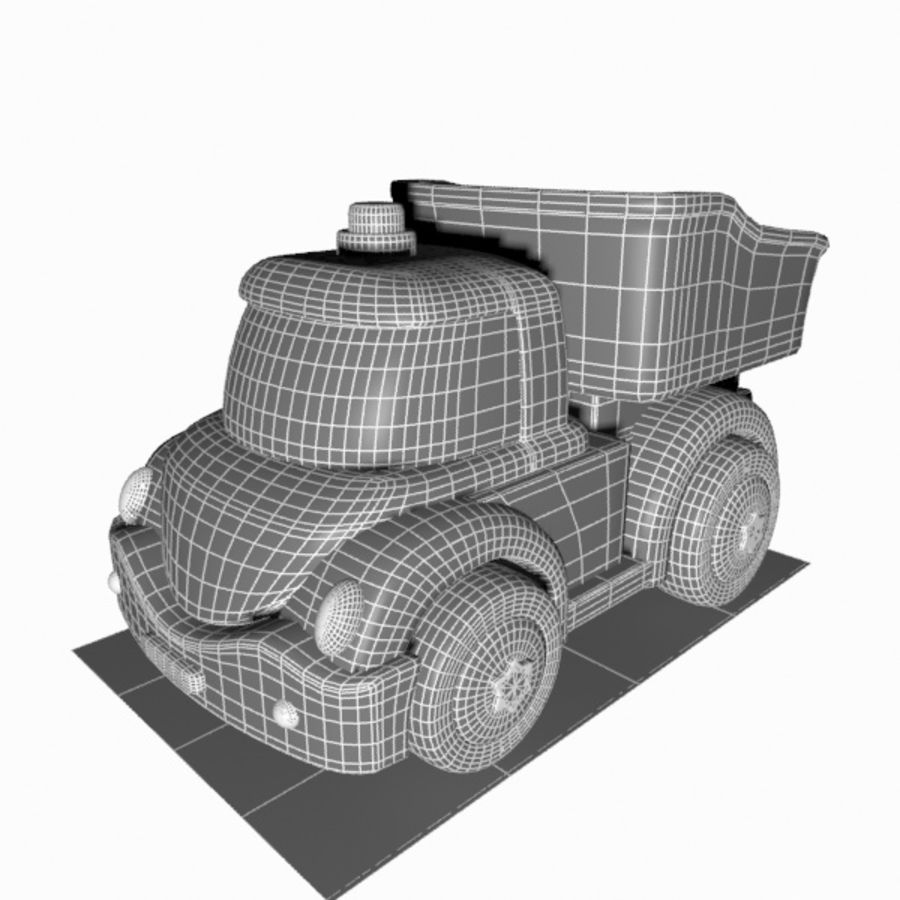 Toon Truck royalty-free 3d model - Preview no. 14